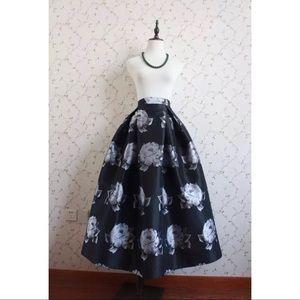 ✨Silver Pony Midi Skirt